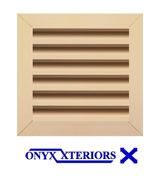 14 X 14 X 2 Square Front Flange Gable Working Vent