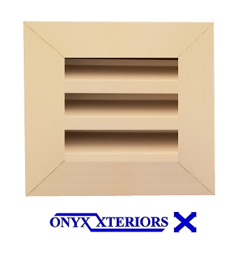 13 X 13 X 4 Square Front Flange Louvered Custom Exhausting Vent
