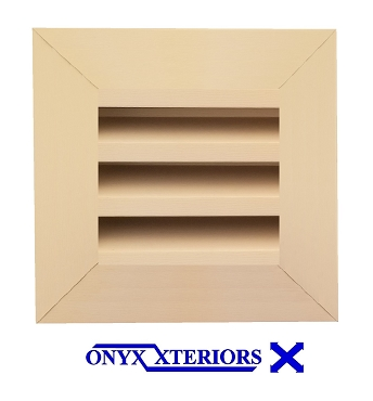 14 X 14 X 4 Square Front Flange Custom Gable Exhausting Vent