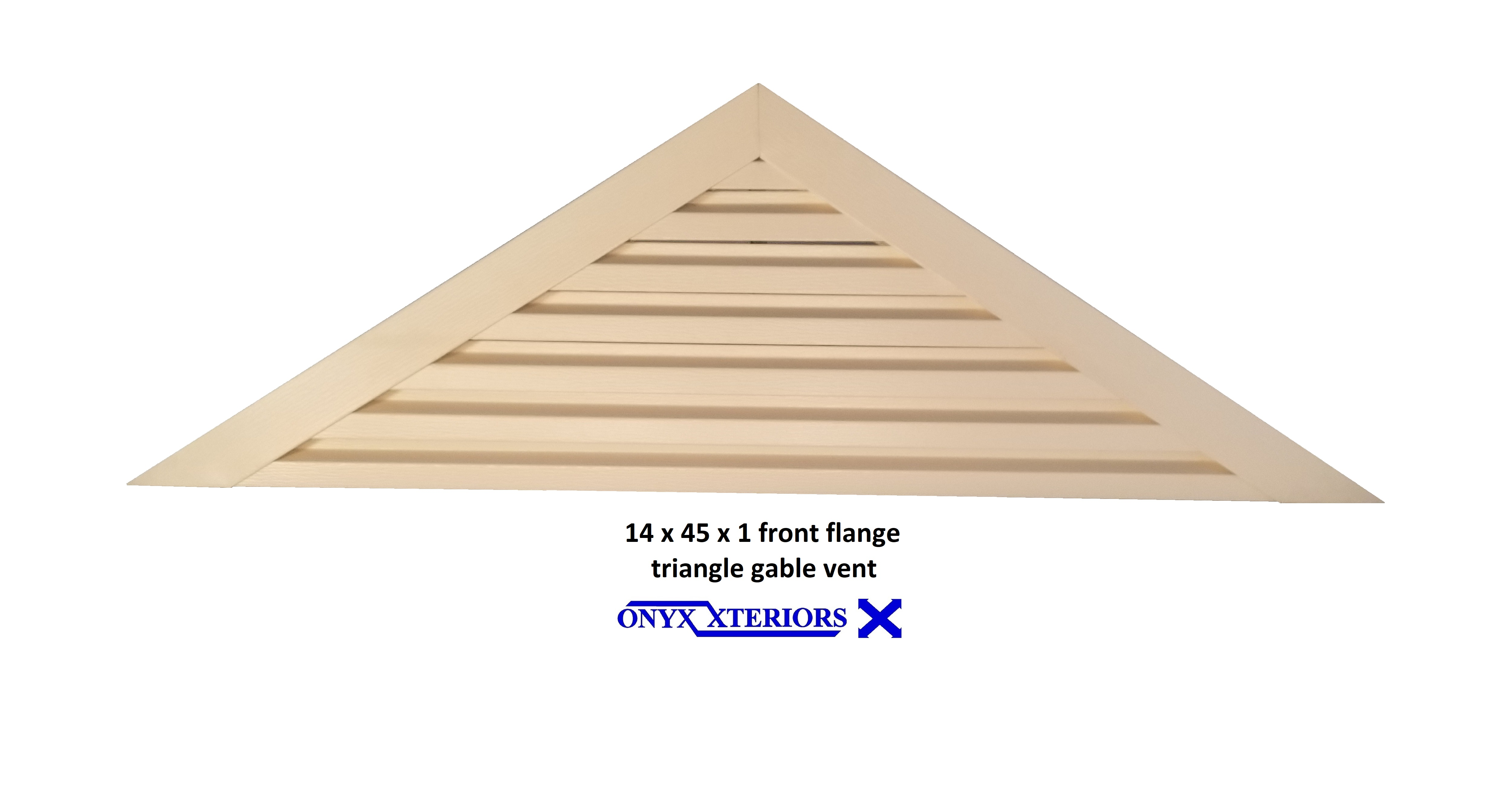 1 Inch Deep Triangle Gable Vent By Measure Front Flange