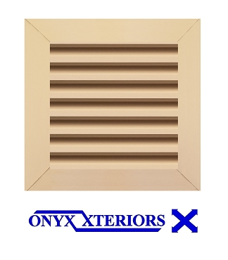 16 X 16 X 2 Square Front Flange Louvre Working Vent