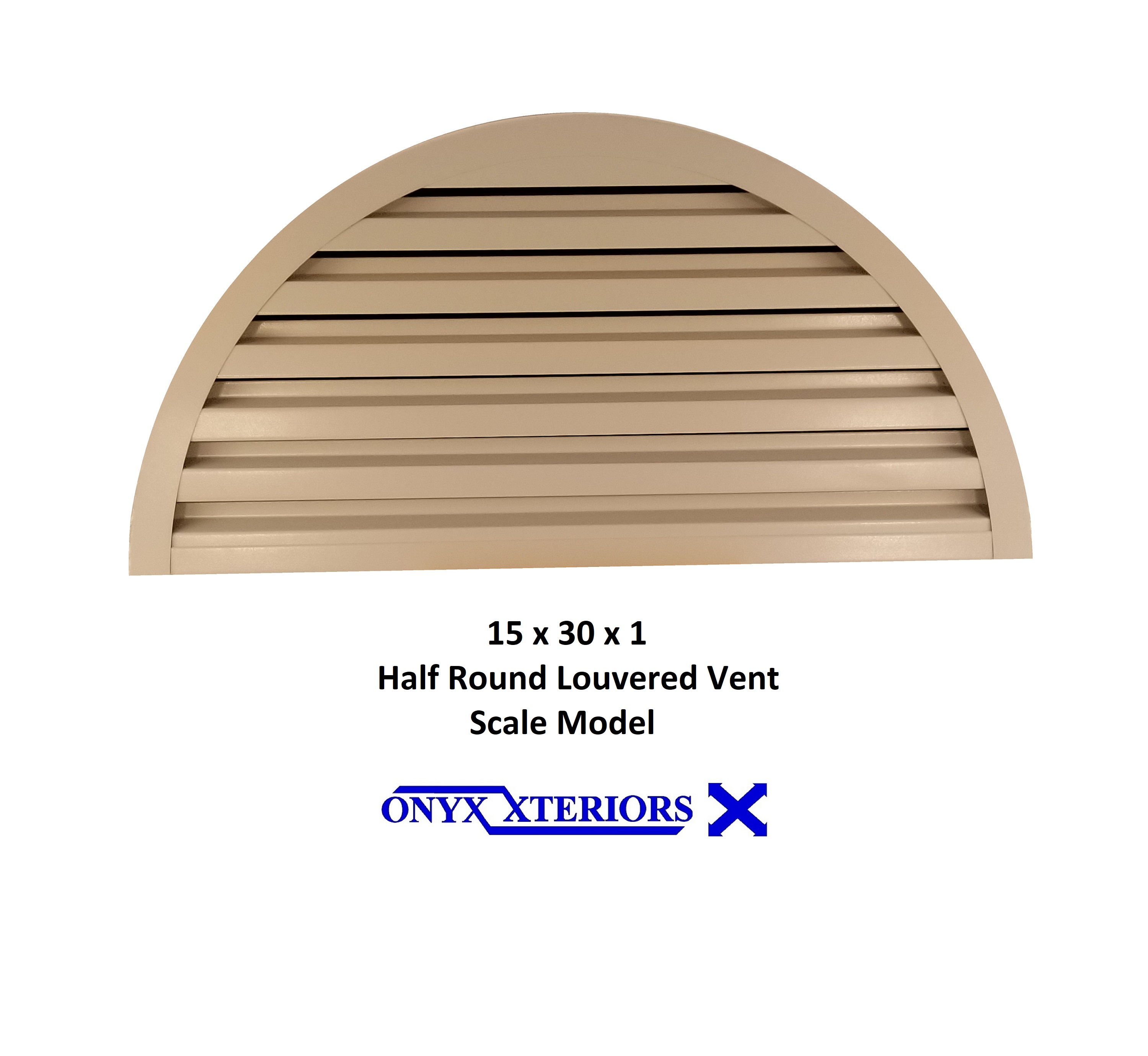 Front Flange Common Half Round Gable Vents SS