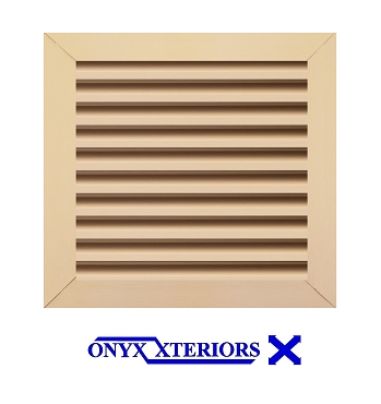 20 X 20 X 2 Square Front Flange Louvered Gable Working Vent