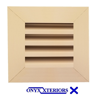 19 X 19 X 4 Square Front Flange Louvered Crawlspace Exhausting Vent
