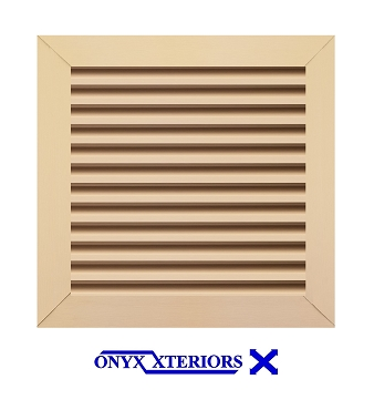 21 X 21 X 1 Square Front Flange Louvered Custom Vent