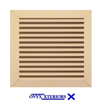 24 X 24 X 2 Square Front Flange Attic Louver Working Vent