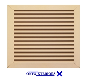 25 X 25 X 2 Square Front Flange Louvered Attic Working Vent