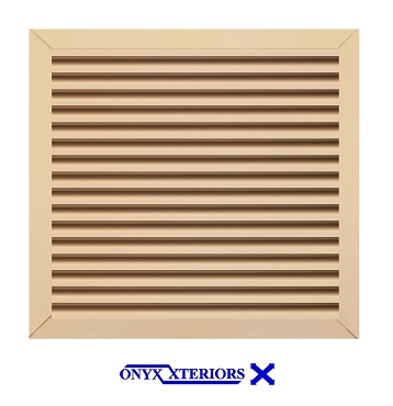 30 X 30 X 2 Square Front Flange Louvered Custom Working Vent