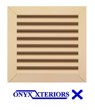 33 X 33 X 4 Square Front Flange Metal Louvered Exhausting Vent
