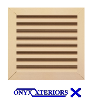 34 X 34 X 4 Square Front Flange Louvered Metal Exhausting Vent