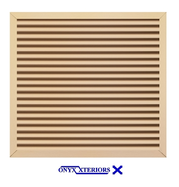 36 X 36 X 2 Square Front Flange Louvered Crawlspace Working Vent