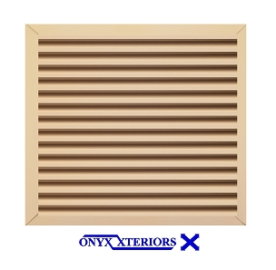 51 X 51 X 4 Square Front Flange Louvered Functioning Vent