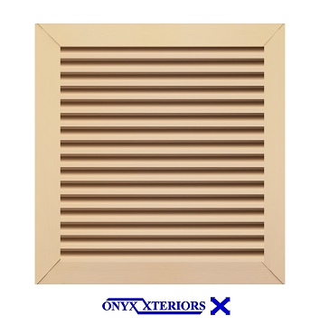 56 X 56 X 4 Square Front Flange Gable Louver Functioning Vent