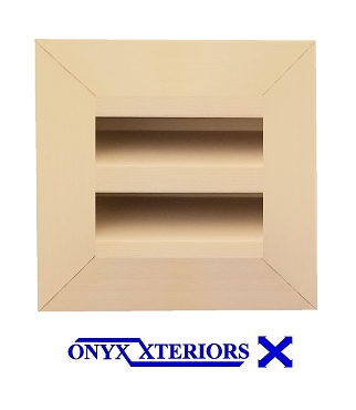 6 X 6 X 2 Square Front Flange Metal Louvre Functioning Vent