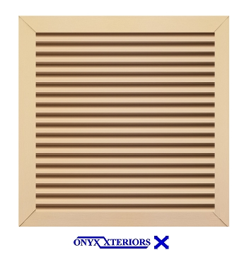 63 X 63 X 4 Square Front Flange Custom Louvre Functioning Vent