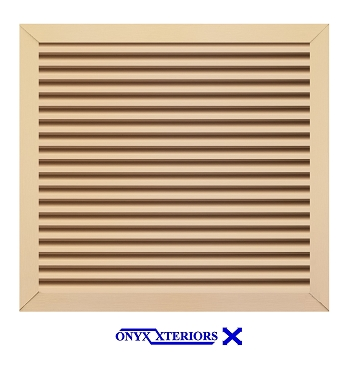 64 X 64 X 4 Square Front Flange Louvered Custom Functioning Vent