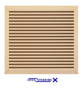 69 X 69 X 4 Square Front Flange Louvered Loft Functioning Vent