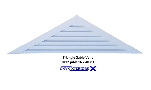 118 X 19 X 1 Triangle Back Flange Aluminum Louvered Functioning Vent
