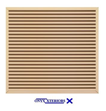 85 X 85 X 4 Square Front Flange Louvered Metal Functioning Vent