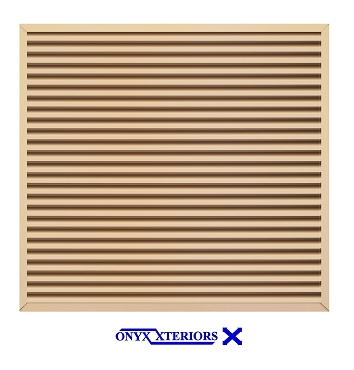 89 X 89 X 4 Square Front Flange Metal Louver Functioning Vent
