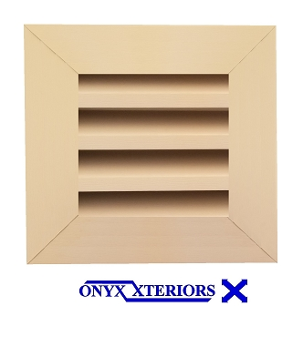8 X 8 X 1 Square Front Flange Louvered Vent