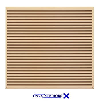 206 X 206 X 4 Square Front Flange Metal Louvered Vent