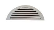 By Measure Half Round Gable Vents SS