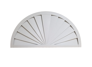 Half Round Sunrise Gable Vent