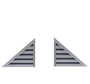 Left / Right Triangle Gable Vents SS
