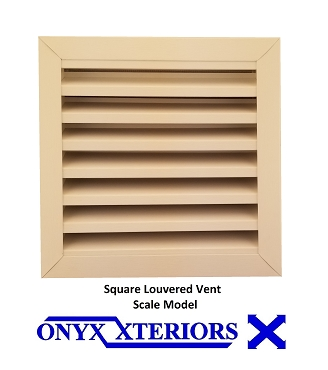 4 inch deep Square Gable Vent By Measure Front Flange