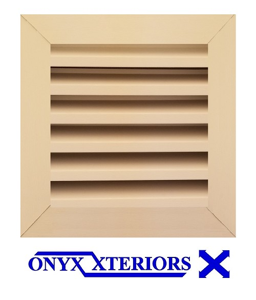 11 X 11 X 1 Square Front Flange Louvered Gable Vent