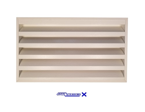 223 X 118 X 6 Rectangle No Flange Metal Garret Functional Vent