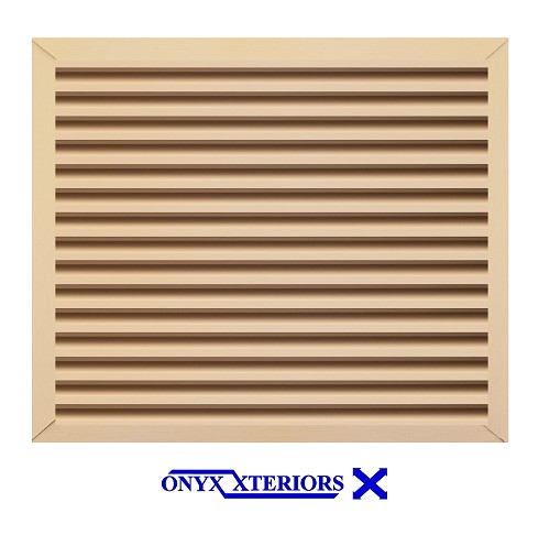 28 X 28 X 2 Square Front Flange Custom Louver Working Vent