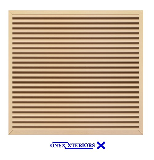 41 X 41 X 1 Square Front Flange Metal Louvered Vent