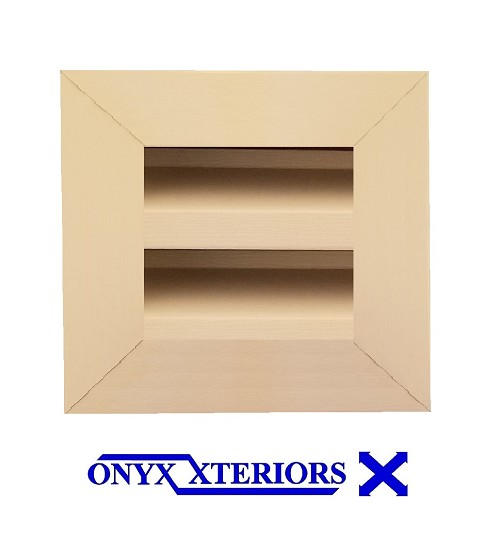 5 X 5 X 2 Square Front Flange Metal Louver Functioning Vent
