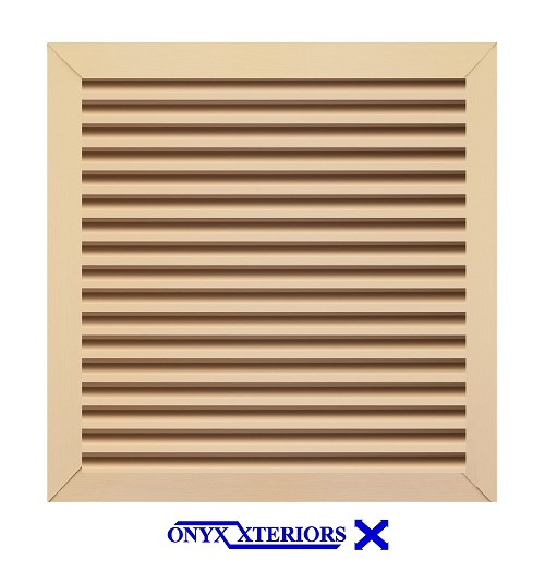 60 X 60 X 4 Square Front Flange Garret Louver Functioning Vent