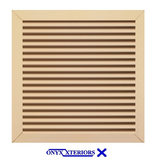 62 X 62 X 4 Square Front Flange Custom Louver Functioning Vent