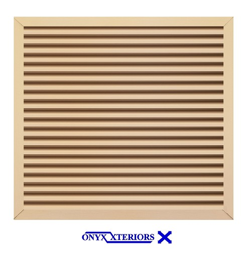 70 X 70 X 4 Square Front Flange Louvered Crawlspace Functioning Vent