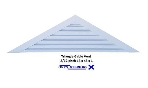 45 X 7 X 1 Triangle Back Flange Attic Louvre Exhausting Vent