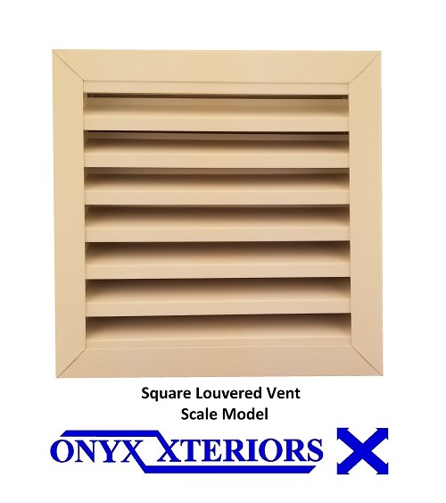 1 inch deep Square Gable Vent By Measure Front Flange