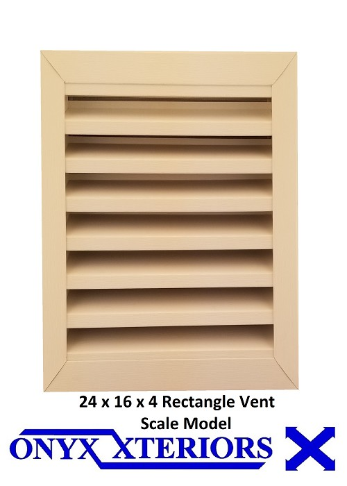 117 X 71 X 4 Rectangle Front Flange Louvered Gable Functioning Vent